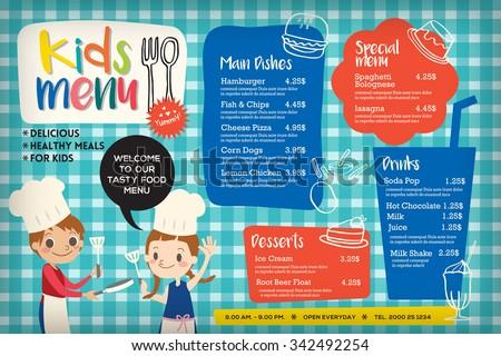 Placemat Images RoyaltyFree Images Vectors – Kids Menu Templates