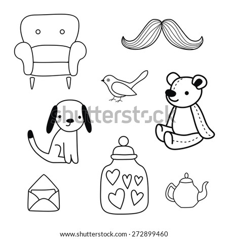 Cute Mustache Coloring Pages