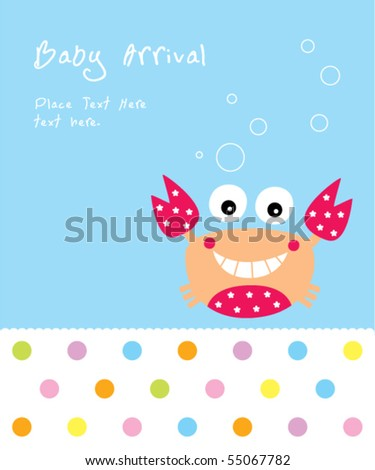 cute crab baby arrival
