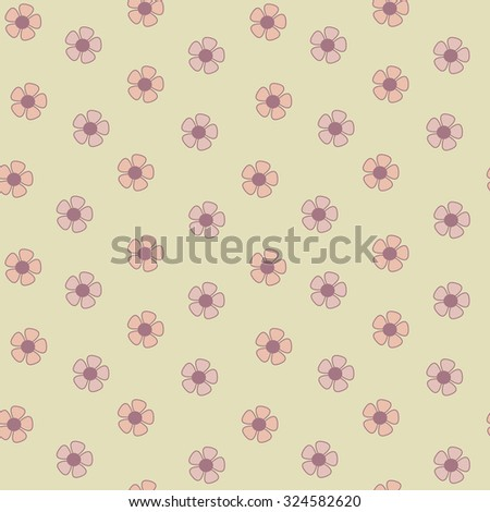 cute daisy flowers romantic seamless vector pattern background illustration