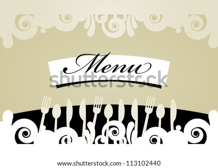 Cute design of menu template card. Vector illustration - stock vector