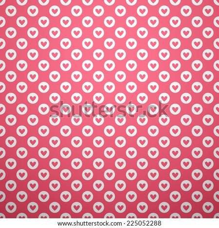 Cute different vector seamless pattern. Pink and white colors. Endless texture can be used for sweet romantic wallpaper, pattern fill, web page background, surface texture. - stock vector