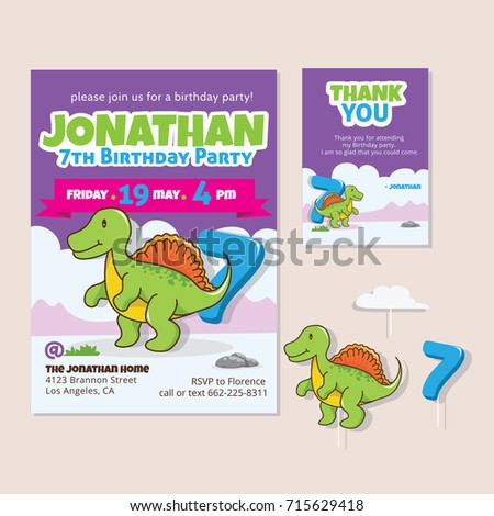 7th Birthday Images RoyaltyFree Images Vectors – 7th Birthday Party Invitation