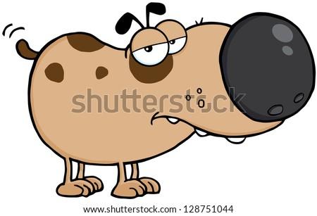 Cute Dog Cartoon Mascot Character - stock vector