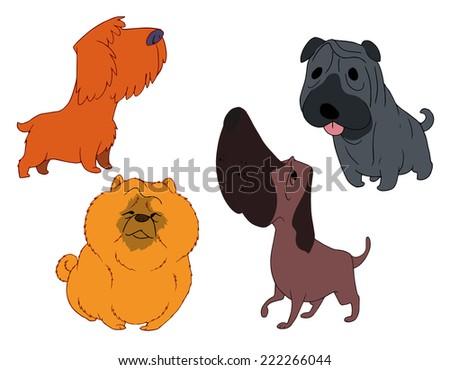 Cute dog dog dog - stock vector