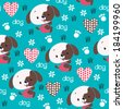 cute dog pattern vector illustration - stock vector