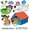 Cute dogs collection 2 - vector illustration. - stock vector