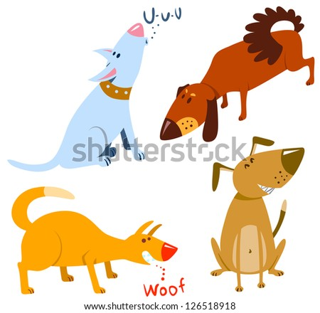 Cute dogs set. - stock vector