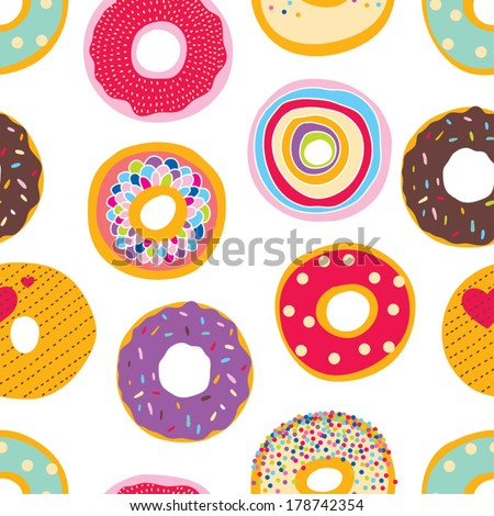 Cute donuts. - stock vector