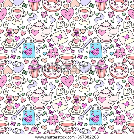 seamless doodle coffee pattern - photo #33