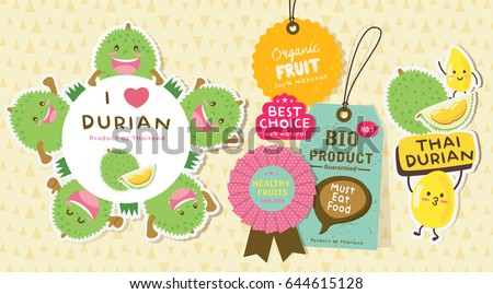 Cute Durian Vector 10