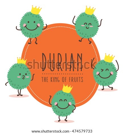 Cute Durian Vector / Mascot Vector Design