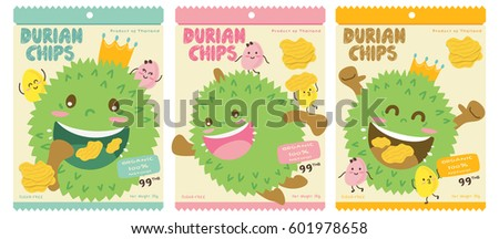Cute Durian Vector Packaging Design / Mascot Vector Design