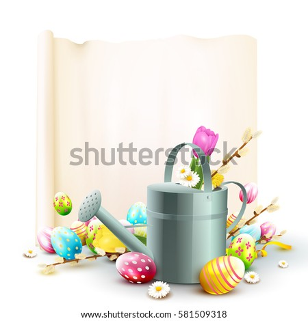 Diy easter holiday child concept close stock photo 603222755 shutterstock - Ladybug watering can ...