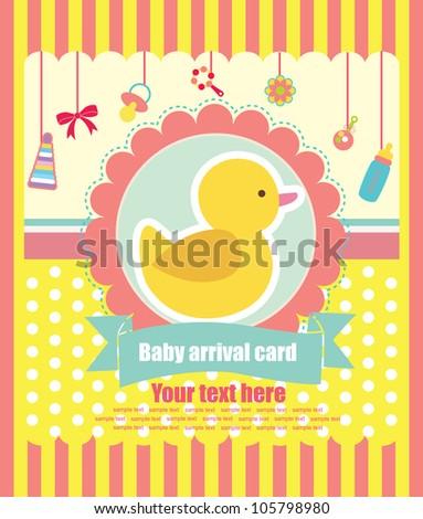 cute elements for baby scrapbook. vector illustration - stock vector