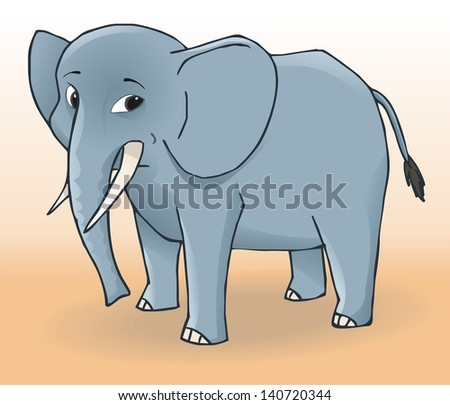 Cute elephant. Vector illustration - stock vector