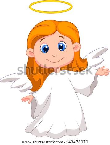 Cute fairy cartoon - stock vector