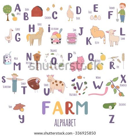 stock images royalty free images vectors shutterstock With farm alphabet letters