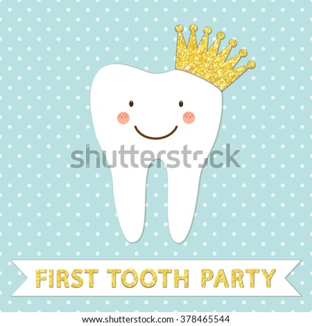 First tooth stock images royalty free images vectors for Baby first tooth decoration