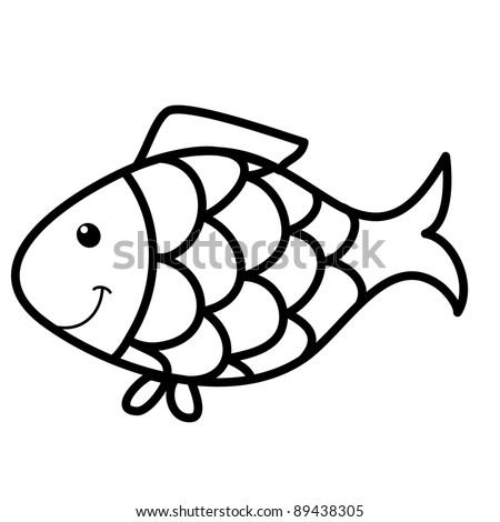 Cute Fish Drawings Cute Fish Cartoon Line Art