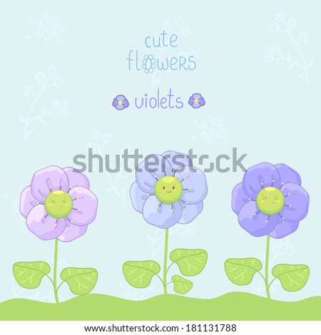 Cute flowers, floral background