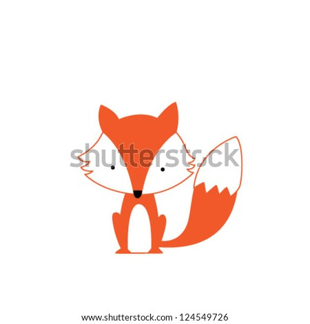 Cute Fox Stock Vector 124549726 Shutterstock