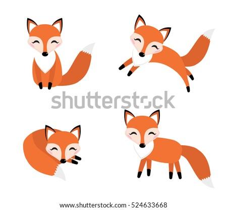 Cute cartoon fox face - photo#30