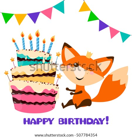 Fox And Raccoon Holding Cake