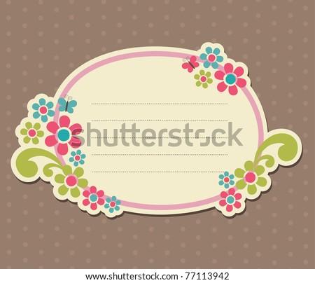 cute frame design. scrapbook element. vector illustration - stock vector