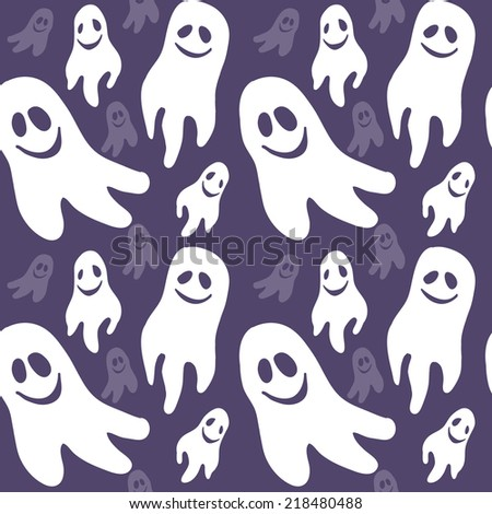 Cute ghost seamless pattern, great for your design