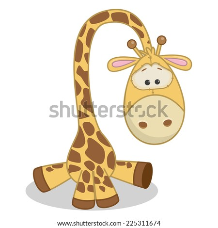 Cute Giraffe isolated on a white background  - stock vector