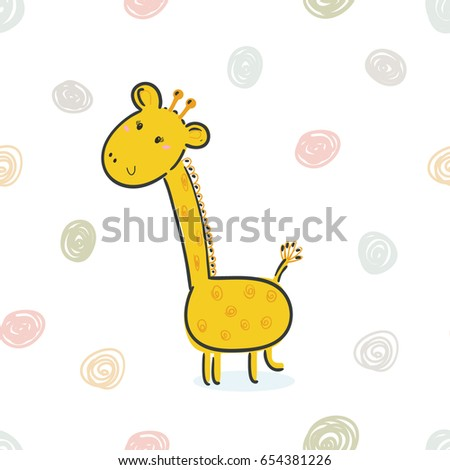 cute giraffe print for kids printable templates