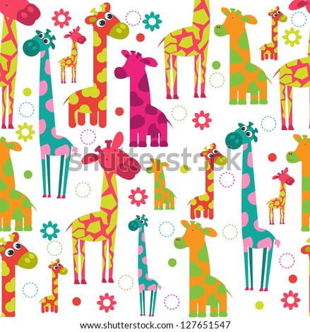 cute giraffe seamless