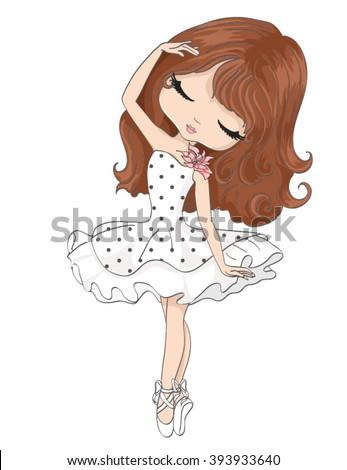 cute girl/girl vector/girl illustration/romantic girl/cute girl/T-shirt print/princess girl/girl sticker/pretty girl/little girl/girl print/girl pattern/beautiful girl/cartoon girl/ballerina girl - stock vector