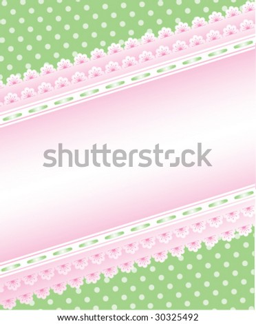 Cute green and pink background