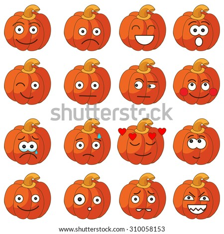 cute halloween pumpkins halloween pumpkin with making different funny face
