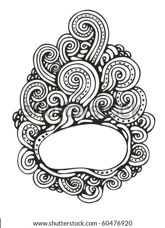 cute hand-drawn doodle frame - stock vector
