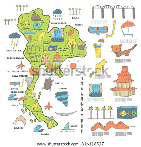 Vector Map Thailand Stock Images RoyaltyFree Images Vectors - Map of thailand