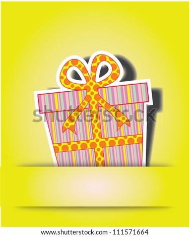 Cute happy birthday card/Vector illustration - stock vector