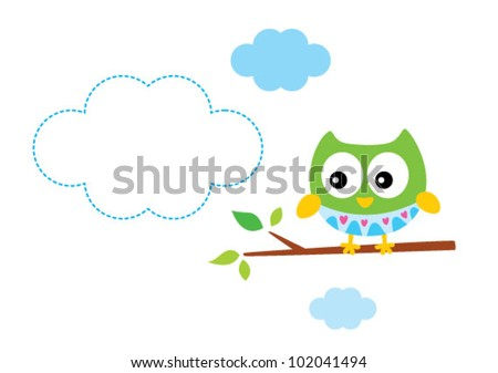 cute happy owl