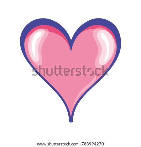 Cute Heart Symbol Passion Love Stock Vector 783994270 Shutterstock