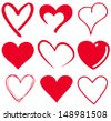 cute heart/T-shirt graphics - stock vector