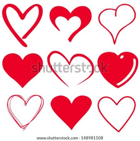 cute heart/T-shirt graphics - stock vector