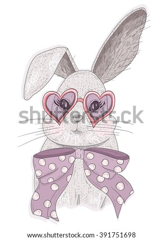 Cute hipster rabbit with glasses. Fashion bunny illustration. cute, cute, cute, cute, cute, cute, cute, cute, cute, cute, cute, cute, cute, cute, cute, cute, cute, cute, cute, cute, cute, cute, cute