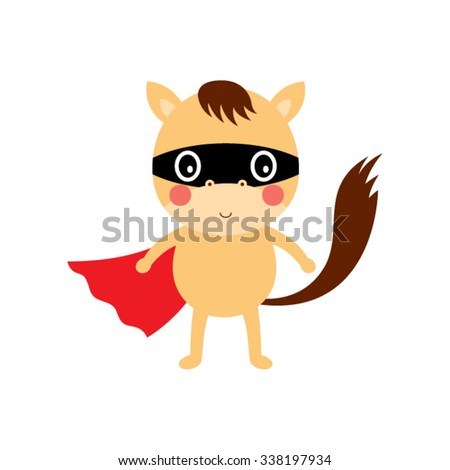 cute horse hero - stock vector