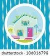 Cute house - stock vector