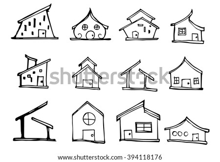 cute home clipart black and white. cute house draw home clipart black and white