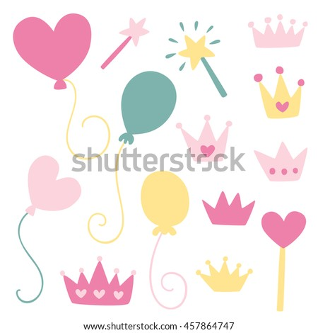 Cute illustrations - princess party