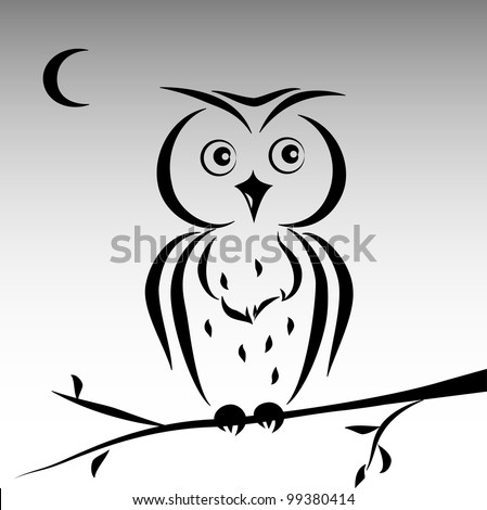 Owl outline vector Stock Photos, Images, & Pictures ...