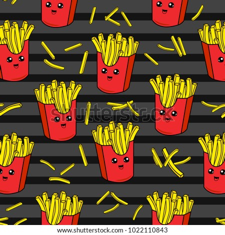 French Cartoon Fries Stock Images Royalty Free Images